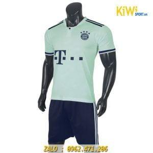 Áo bóng đá CLB Bayern Munich 2018 - 2019 sân khách màu xanh ngọc