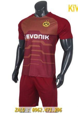 Áo bóng đá CLB Dortmund 2018 - 2019 sân khách màu đỏ đô cực chất