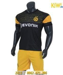 Áo bóng đá CLB Dortmund màu đen thi đấu sân khách rất đẹp