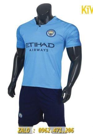 Áo bóng đá CLB Manchester City 2018 - 2019 màu xanh biển thi đấu sân nhà