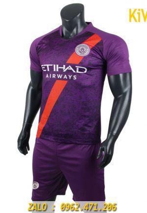 Áo bóng đá CLB Manchester City 2018 - 2019 Màu Tím Siêu Chất