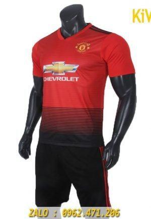 Áo bóng đá CLB Manchester United 2018 - 2019 sân nhà màu đỏ rất đẹp