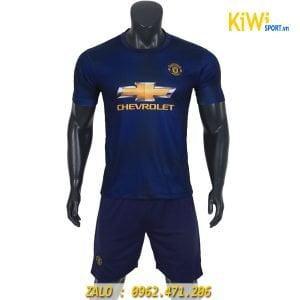 Áo bóng đá CLB Manchester United 2018 - 2019 màu xanh rất đẹp