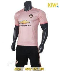 Áo bóng đá CLB Manchester United 2018 - 2019 màu hồng sân khách rất đẹp