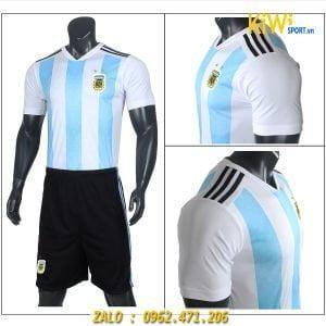 Áo bóng đá tuyển Argentina thi đấu world cup 2018 xanh sọc trắng