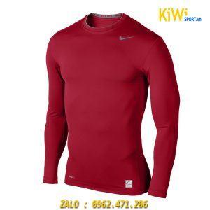 Áo Lót Body dài tay nike màu đỏ chất thun co giãn, giữ nhiệt siêu tốt