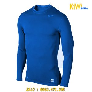 Áo Lót Body Dài Tay Nike Màu Xanh Giữ Nhiệt