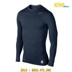 Áo Lót Body Thể Thao Dài Tay Nike Màu Xanh Đen