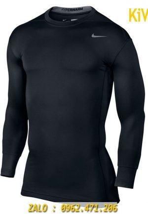 Áo Lót Body Thể Thao Dài Tay Nike Màu Đen