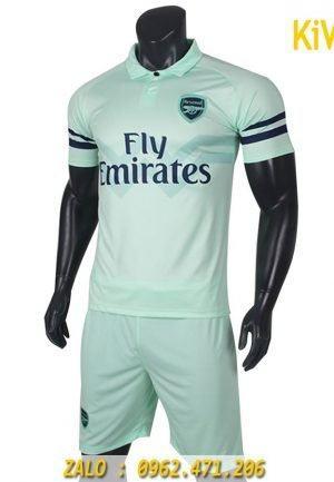 Áo Bóng Đá CLb Arsenal 2018 - 2019 màu xanh ngọc cực chất