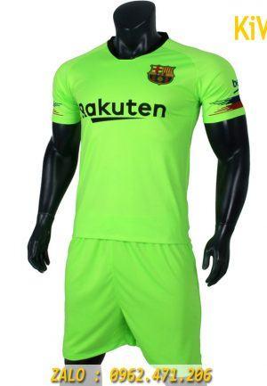 Mẫu áo bóng đá CLB Barcelona 2018 - 2019 xanh dạ quang thi đấu sân khách nổi bật