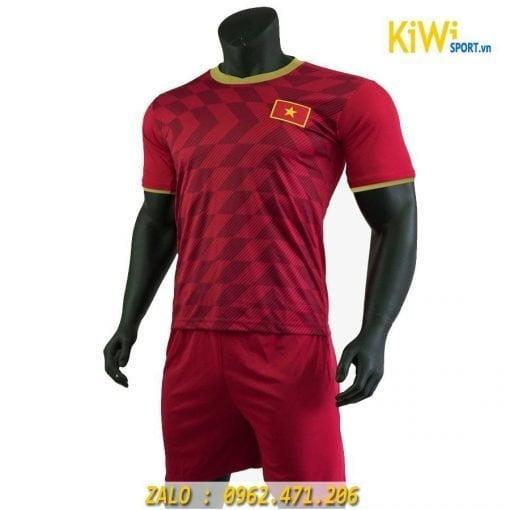 Mẫu áo bóng đá đội tuyển Việt Nam 2019 màu đỏ