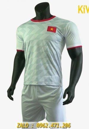 Áo bóng đá đội tuyển Việt Nam màu trắng mẫu mới nhất 2019