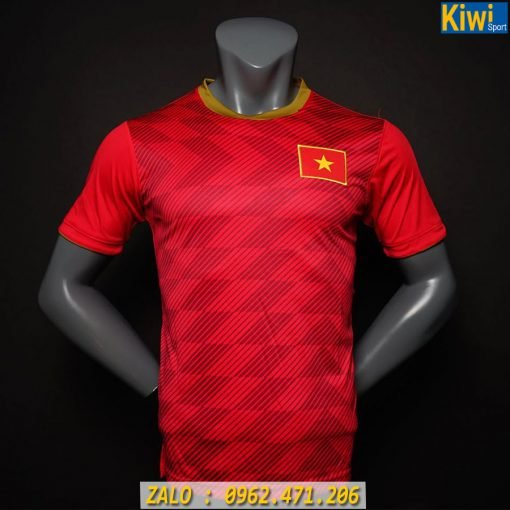 Mẫu Áo Đá Banh Đội Tuyển Việt Nam Màu Đỏ 2019 - 2020
