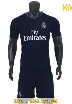 Quần áo bóng đá CLB Real Madrid 2018 - 2019 màu đen thi đấu sân khách