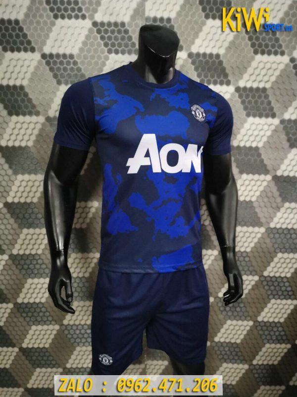Áo Bóng Đá CLB Manchester United 2019 - 2020 Màu Xanh