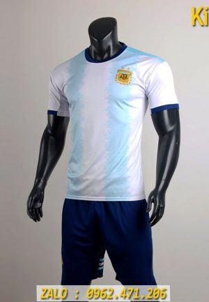 Áo Bóng Đá Tuyển Argentina 2019 Sọc Xanh Trắng Thi Đấu Copa America