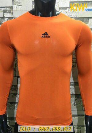 Áo Lót Body Thể Thao Tay Dài Adidas Màu Cam