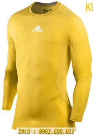 Áo Lót Thể Thao Dài Tay Adidas Màu Vàng