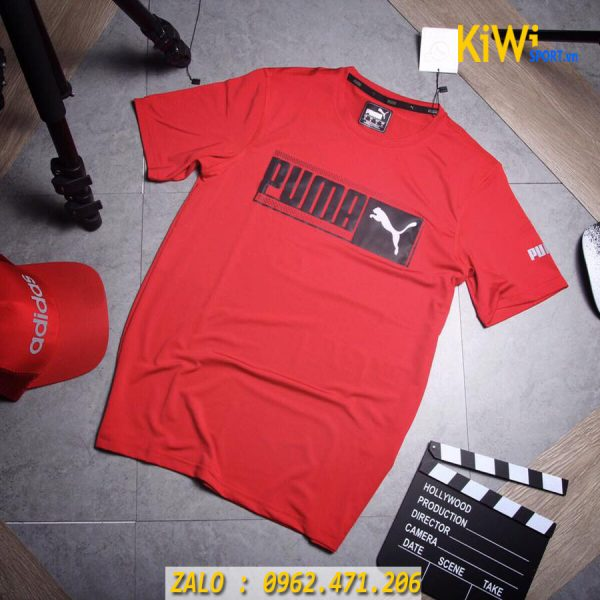 Bán sỉ áo thể thao nam mẫu Puma Faster 2019 màu đỏ