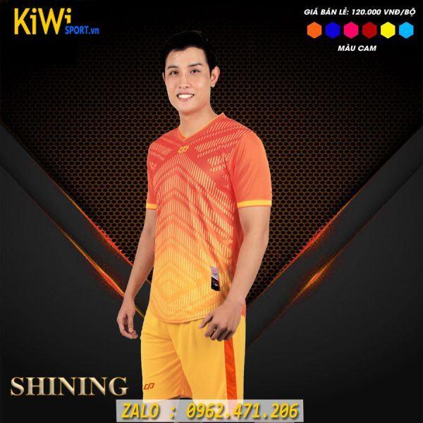 Đồ Đá Banh Không Logo Mẫu Shining Màu Cam