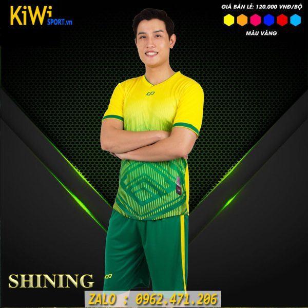 Đồ Đá Banh Không Logo Mẫu Shining Màu Vàng