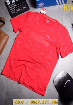 Xưởng sỉ áo thể thao Puma dập nổi màu đỏ cực chất