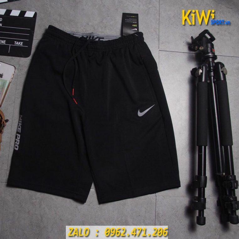 Xưởng Sỉ Quần Đùi Thể Thao Nike Pro 2019 Màu Đen