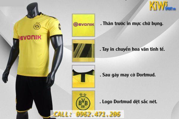Hình Ảnh Mẫu Áo Bóng Đá CLB Dortmund 2019 - 2020 Màu Vàng Sân Nhà Tuyệt Đẹp