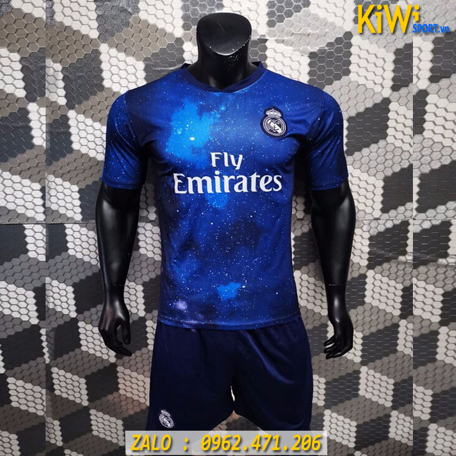 áo Bóng đá Clb Real Madrid 2019 2020 Màu Xanh đen