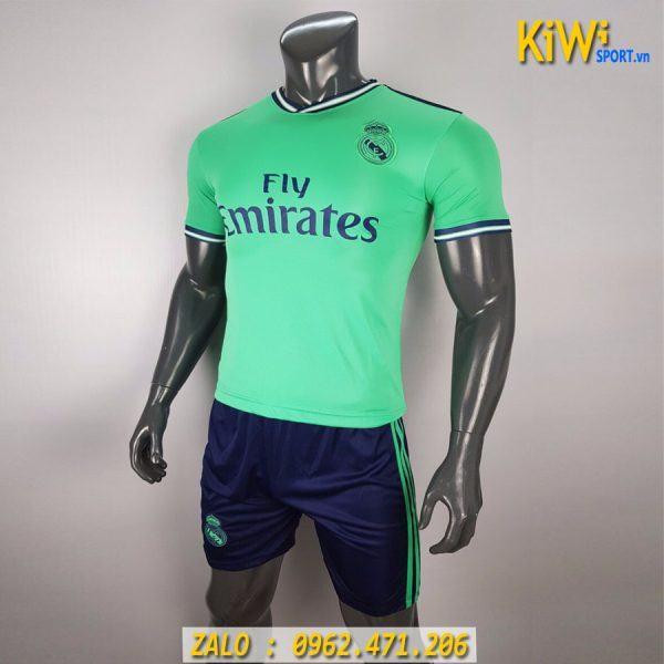 Áo Bóng Đá CLB Real Madrid 2019 - 2020 Màu Xanh Ngọc Sân Khách