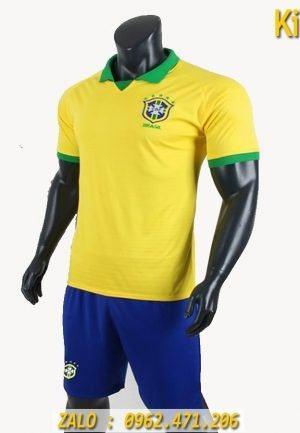 Áo Bóng Đá Tuyển Brazil Copa America 2019 Màu Vàng Rất Đẹp