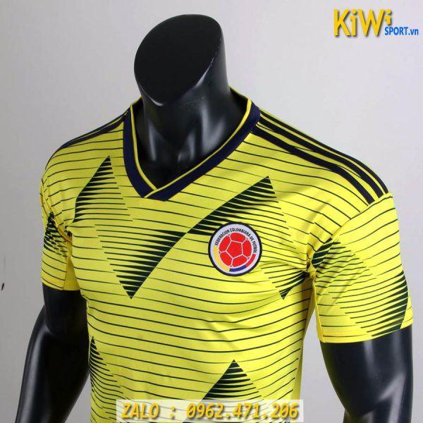 Áo Bóng Đá Tuyển Colombia 2019 Màu Vàng Thi Đấu Copa America
