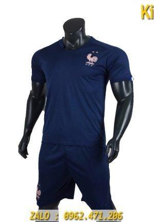 Áo Bóng Đá Tuyển Pháp 2019 - 2020 Màu Xanh Lam Rất Đẹp