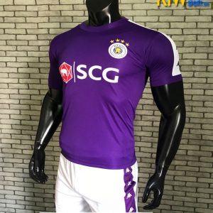 Mẫu Áo Đá Banh CLB Hà Nội Fc 2019 Màu Tím Rất Đẹp