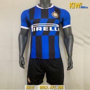 Áo Bóng Đá CLB Inter Milan 2019 - 2020 Sân Nhà Sọc Xanh Đen