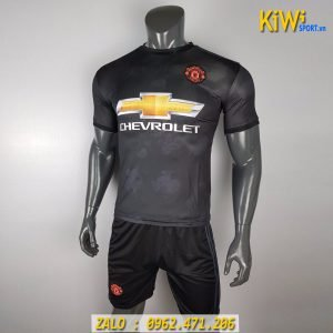 Áo Đá Banh CLB Manchester United 2019 - 2020 Sân Khách Màu Đen Rất Đẹp