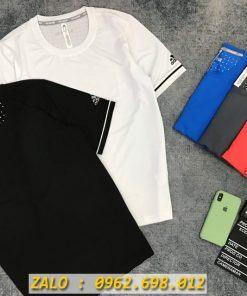 Bỏ Sỉ Áo Thể Thao Nam Mẫu Adidas Đính Nhôm Hàng Cao Cấp