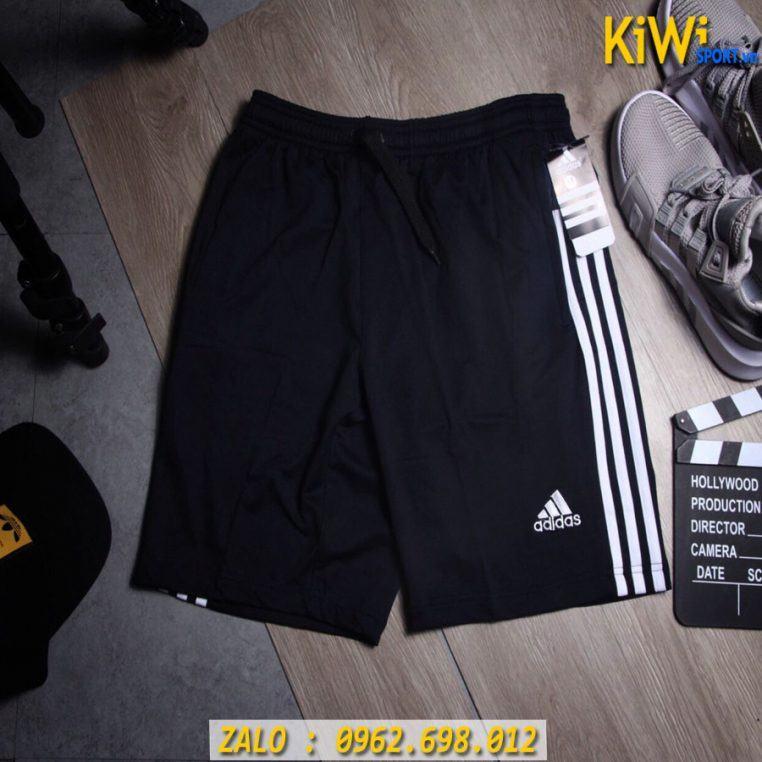 Bỏ Sỉ Quần Sort Thể Thao Nam Adidas 3 Sọc Logo Thêu