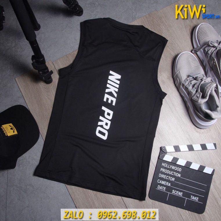 Mặt Sau Áo Sát Nách Thể Thao Nike Pro Màu Đen Rất Đẹp