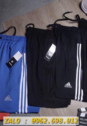Chuyên Sỉ Quần Sort Thể Thao Nam Adidas 3 Sọc Chất Thun CO Giãn