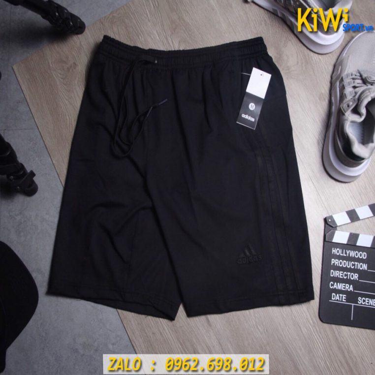 Chuyên Sỉ Quần Sort Thể Thao Adidas 3 Sọc Thun Co Giãn 4 Chiều