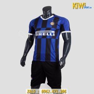 Hình Ảnh Mẫu Áo Bóng Đá CLB Inter Milan 2019 - 2020 Sọc Xanh Đen Sân Nhà