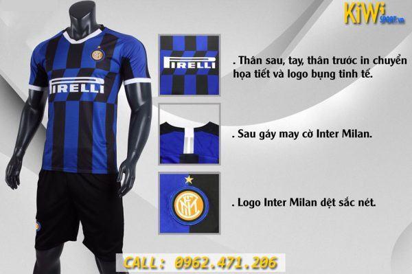 Mẫu Áo Bóng Đá CLB Inter Milan 2019 - 2020 Sân Nhà Sọc Xanh Đen Rất Đẹp