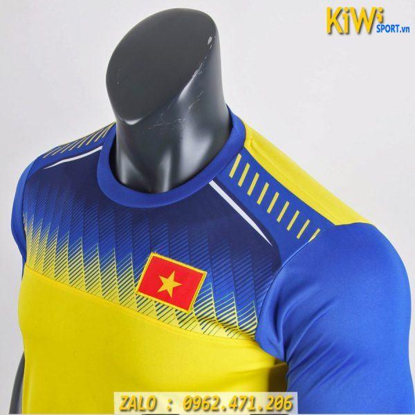 Mẫu Áo Đá Banh Training Tuyển Việt Nam 2019 - 2020 Màu Vàng