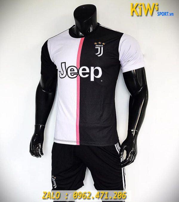 Mẫu Áo Bóng Đá CLB Juventus 2019 - 2020 Sân Nhà Trắng Sọc Đen