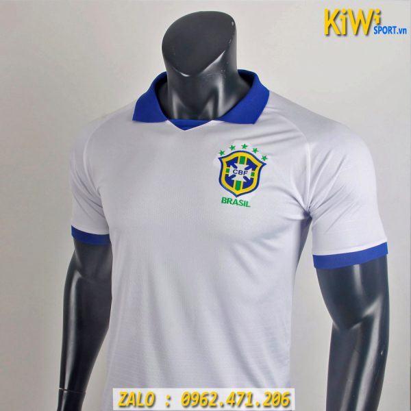 Áo Bóng Đá Tuyển Brazil 2019 Thi Đấu Copa America Màu Trắng