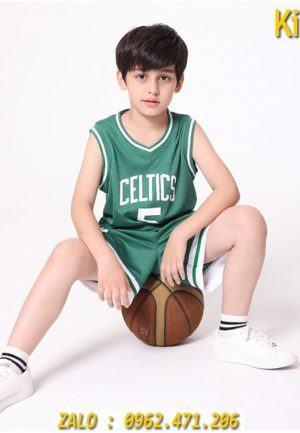 Mua Bộ Quần Áo Bòng Rổ Trẻ Em Celtics Màu Trắng Giá Rẻ