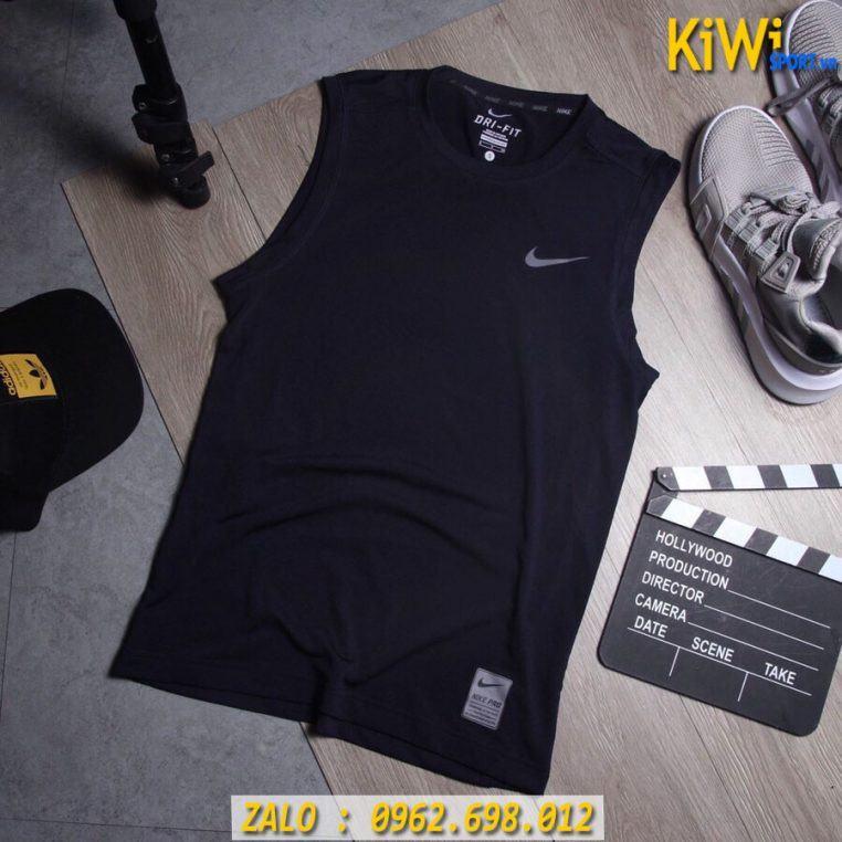 Nơi Bán Sỉ Áo Sát Nách Thể Thao Nike Pro Màu Đen