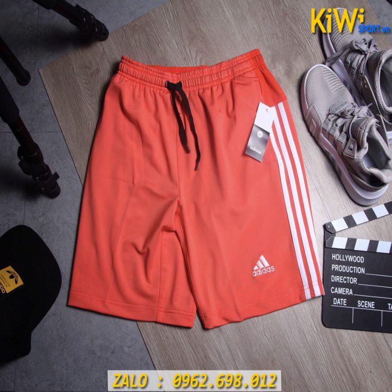 Nơi Bỏ Sỉ Quần Sort Thể Thao Adidas 3 Sọc Màu Đỏ Rất Đẹp